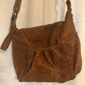 Fossil leather cross body purse